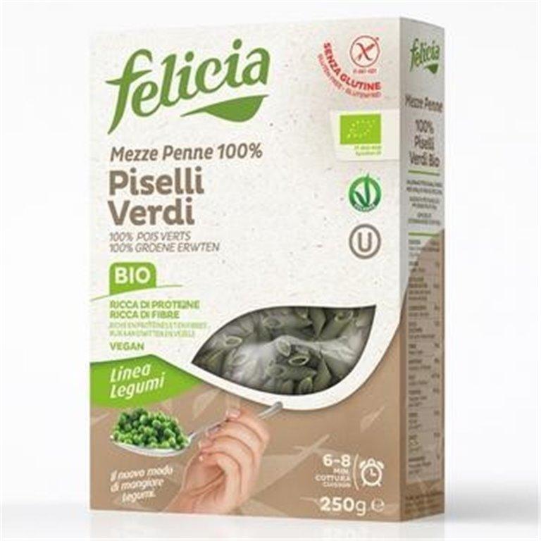 Mezze Penne de Guisantes Verdes Sin Gluten Bio 250g