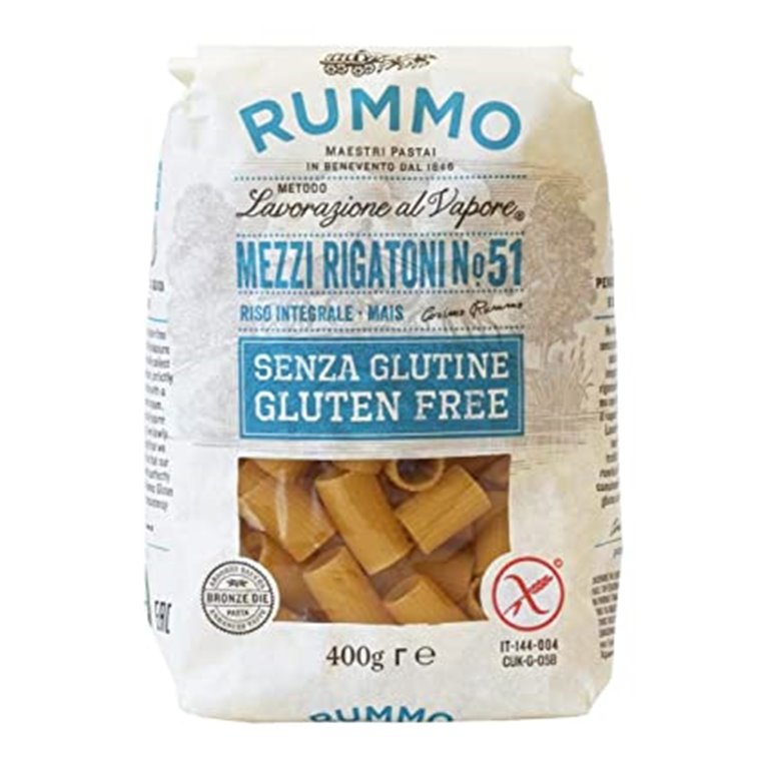Mezzi Rigatoni Nº 51 de Arroz Integral y Maíz Sin Gluten 400g