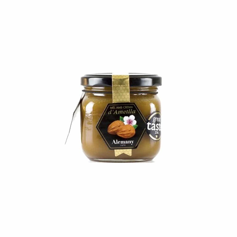 Miel con Crema de Almendras 250g Alemany