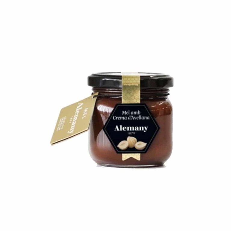 Miel con Crema de Avellana 250g Alemany