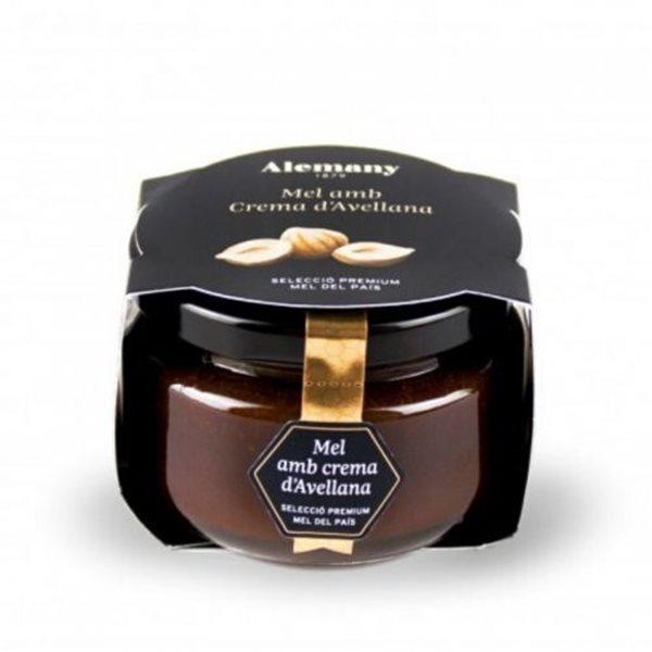 Miel con crema de avellanas