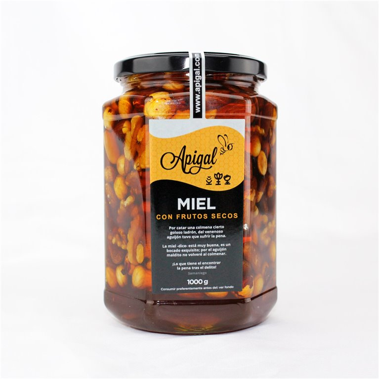 Miel con frutos secos 1kg