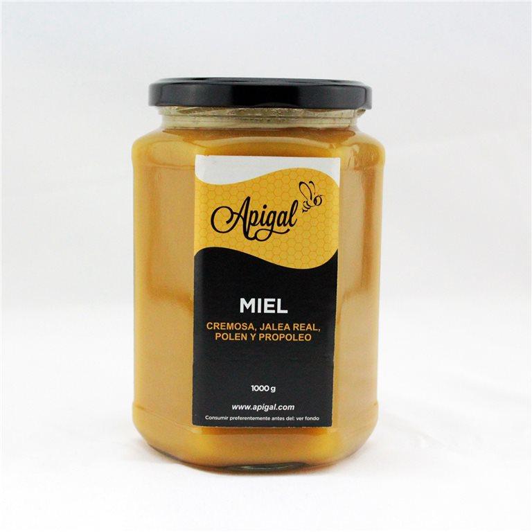 Miel con jalea real, polen y propóleo 1kg