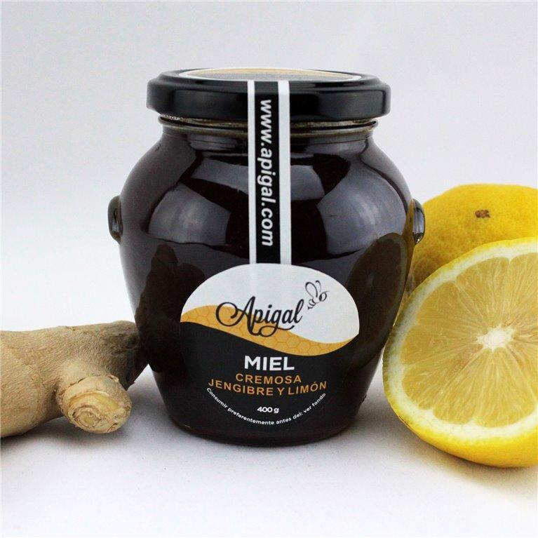 Miel con jengibre y limón 400g