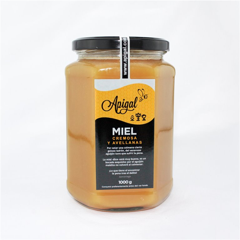 Miel cremosa con avellanas 1kg