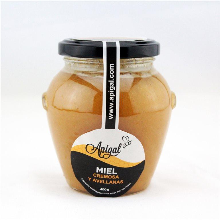 Miel cremosa con avellanas 400g