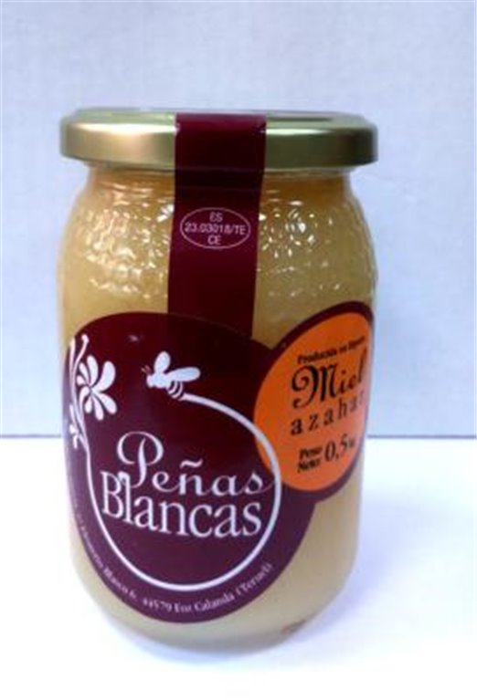 Miel de azahar Peñas Blancas 500gr, 1 ud