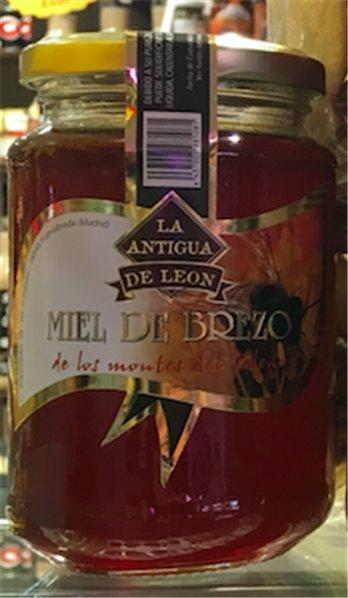 Miel de Brezo de los Montes del León marca La antigua de león
