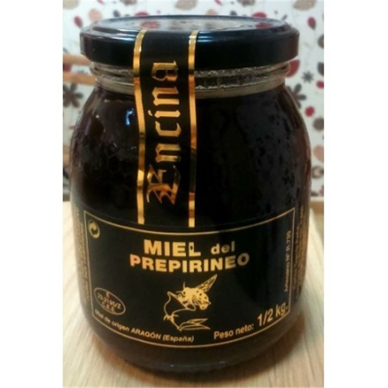 Miel de encina del Prepirineo 500gr, 1 ud
