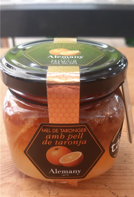Miel de naranjo con piel de naranja