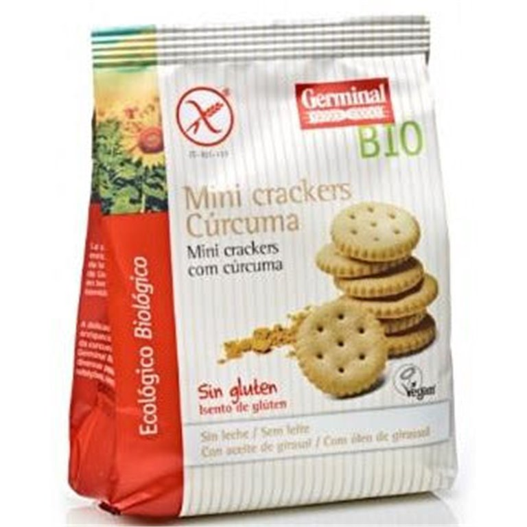 Mini Crackers con Cúrcuma Sin Gluten Bio 100g