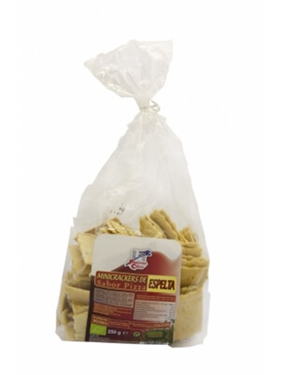Mini Crackers De Espelta sabor pizza, 250 gr