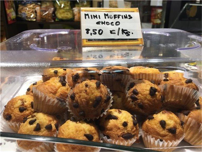 Mini muffins chocolate