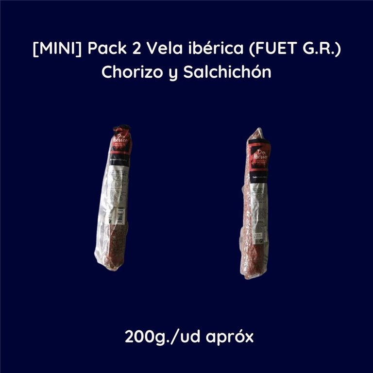 [MINI] Pack 2 Iberian Candle (FUET G.R.) Chorizo and Salchichón 2x200g approx
