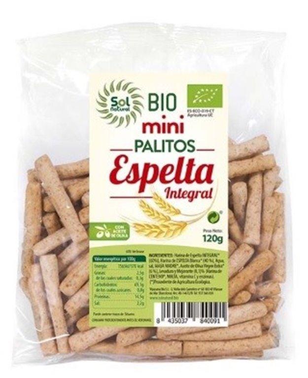 Mini Palitos de Espelta Integral Bio 120g