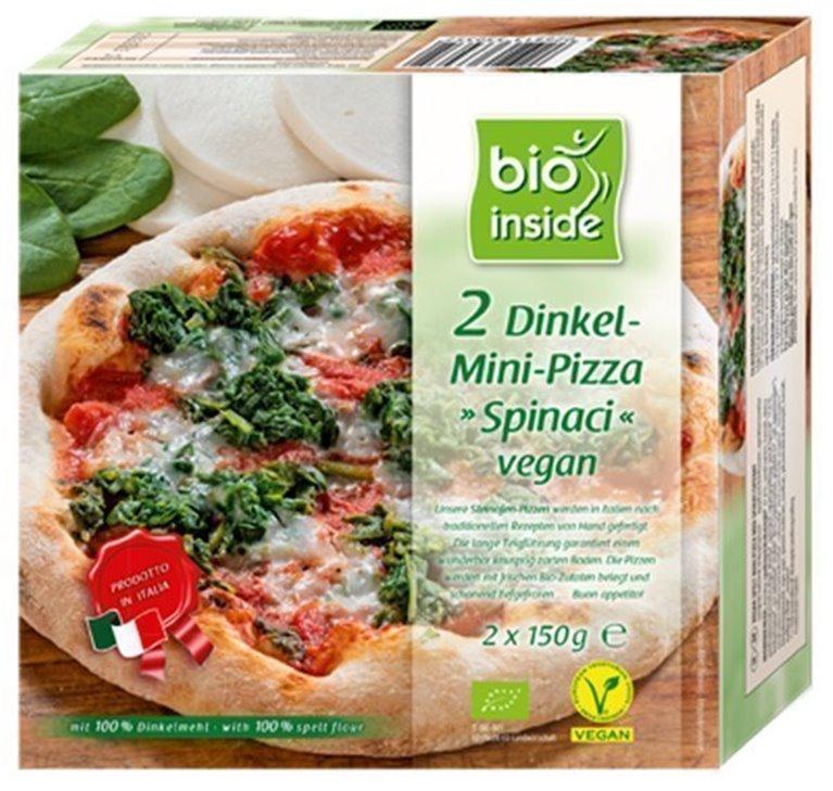 Mini pizza espelta y espinacas, 300 gr