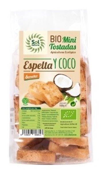 Mini Tostadas de Espelta con Coco Bio 100g