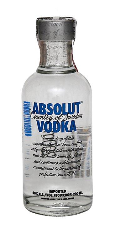 Miniatura Vodka Absolut 120 Unidades