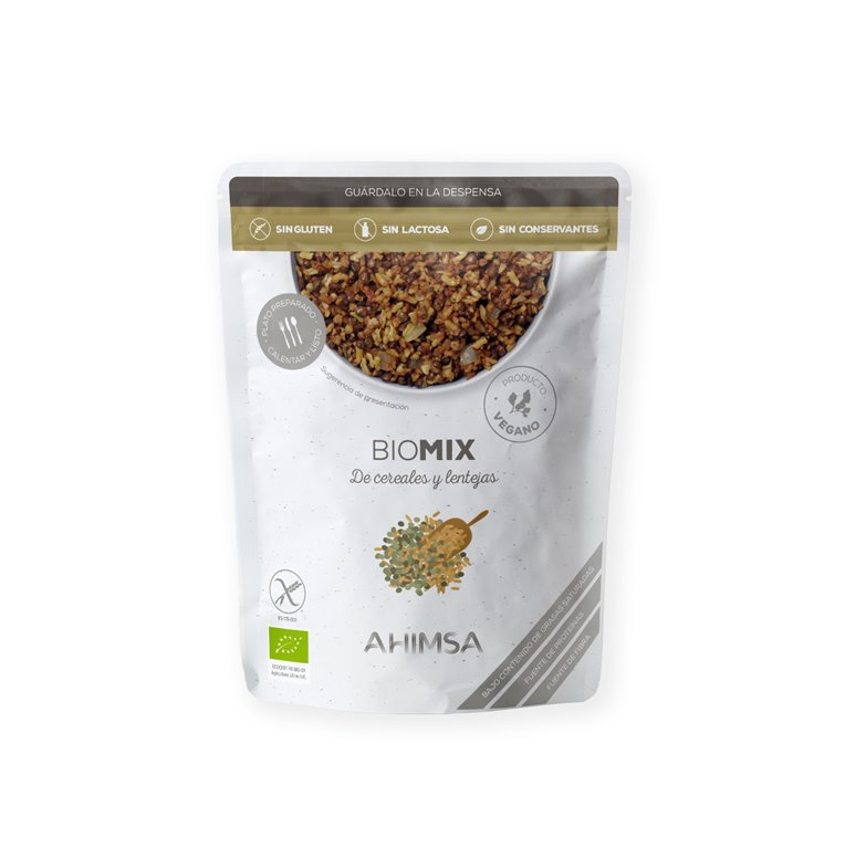 Mix de Cereales y Lentejas Bio Ahimsa, 250 gr