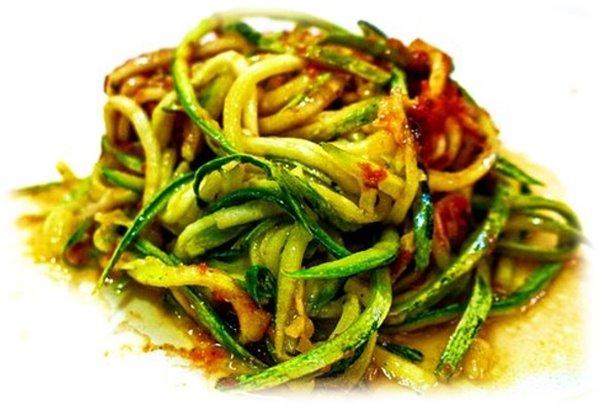 Mix Espaguetis de Calabacín con Champiñones