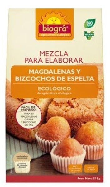 Mix para Magdalenas y Bizcochos de Espelta Bio 518g