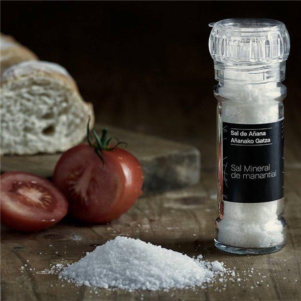 Molinillo de Sal Mineral de Manantial 75 gr Sal de Añana