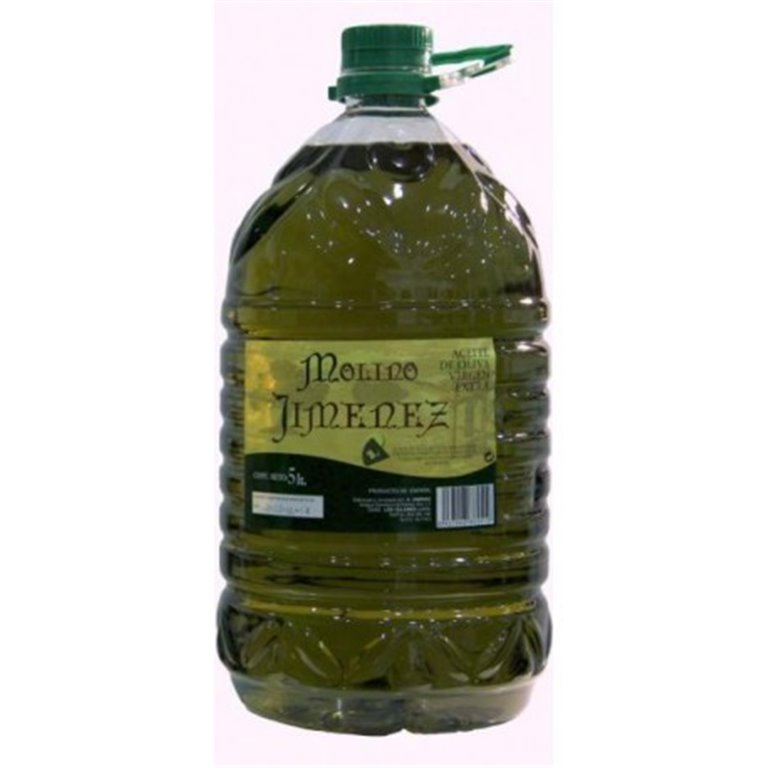 Molino Jiménez. Aceite de oliva Picual. 3 garrafas 5 Litros, 1 ud