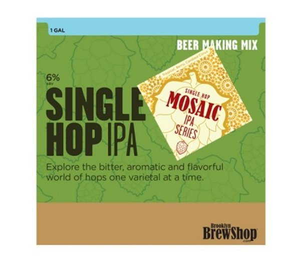 Mosaic Single Hop IPA Beer Making Mix