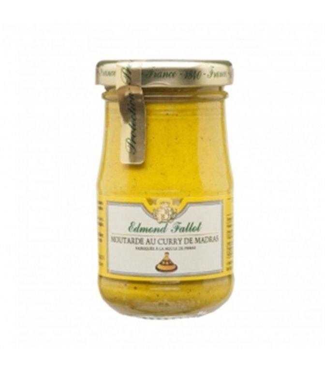 Mostaza Dijon al curry de Madras 105gr. Edmond Fallot. 12 ud