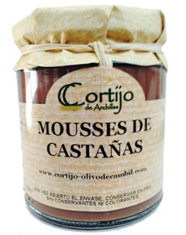 Mousse de castañas al chocolate. 275 gr., 1 ud
