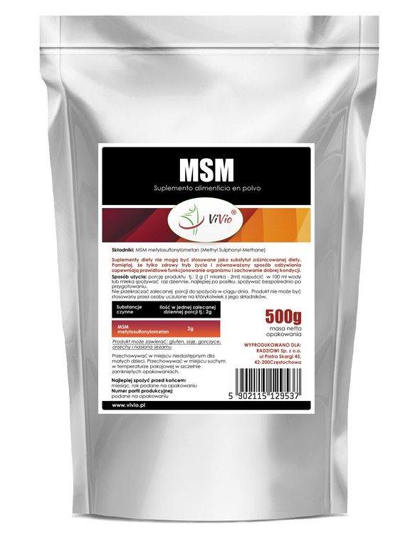 MSM en polvo 500g