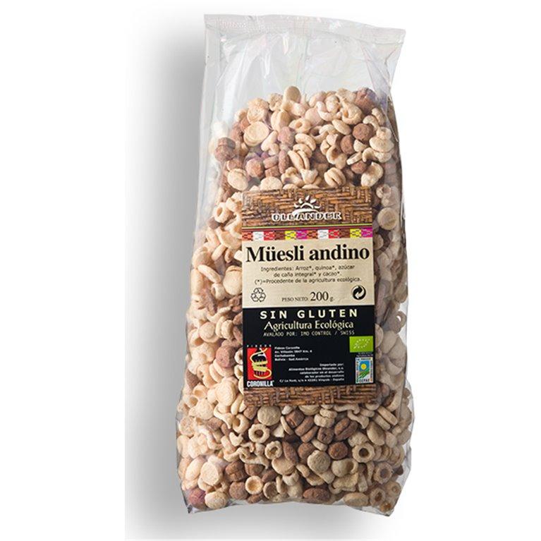 Muesli Andino de Arroz y Quinoa Sin Gluten Bio 200g, 1 ud