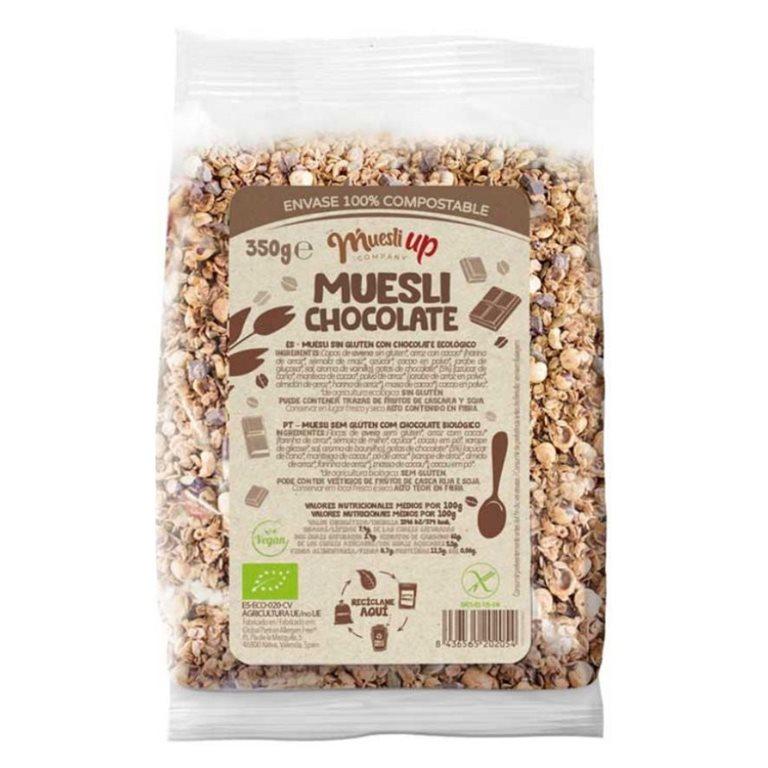 Muesli con Chocolate y Coco Sin Gluten Bio 350g, 1 ud