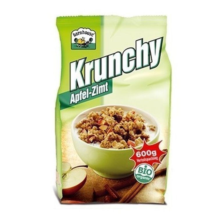 Muesli Crunchy Manzana Y Canela, 1 ud