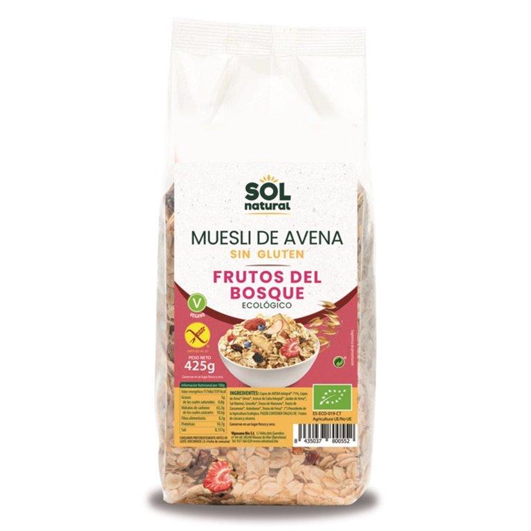 Muesli de Avena con Frutos del Bosque Sin Gluten Bio 425g, 1 ud