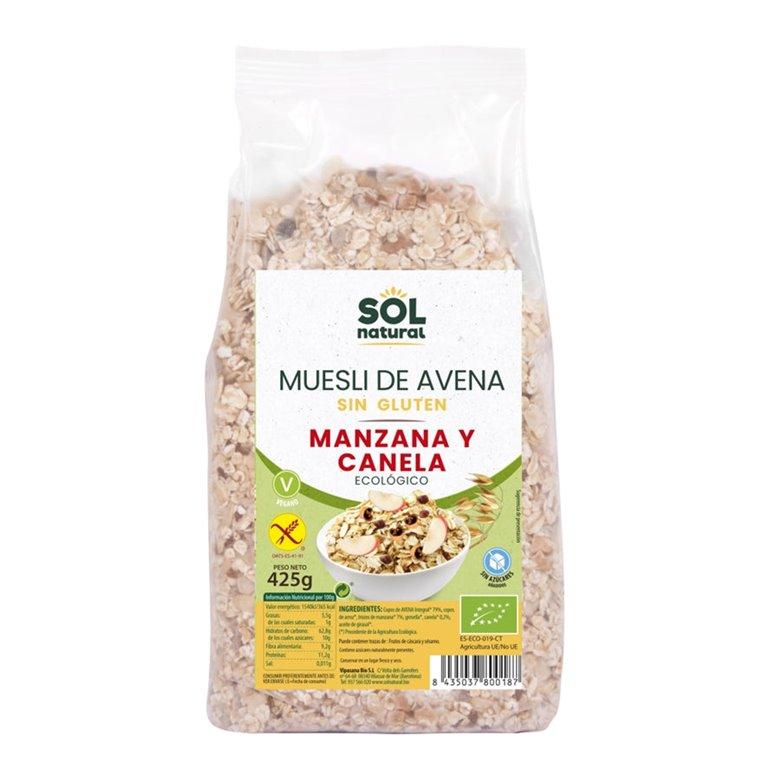 Muesli de Avena con Manzana y Canela Sin Gluten Bio 425g