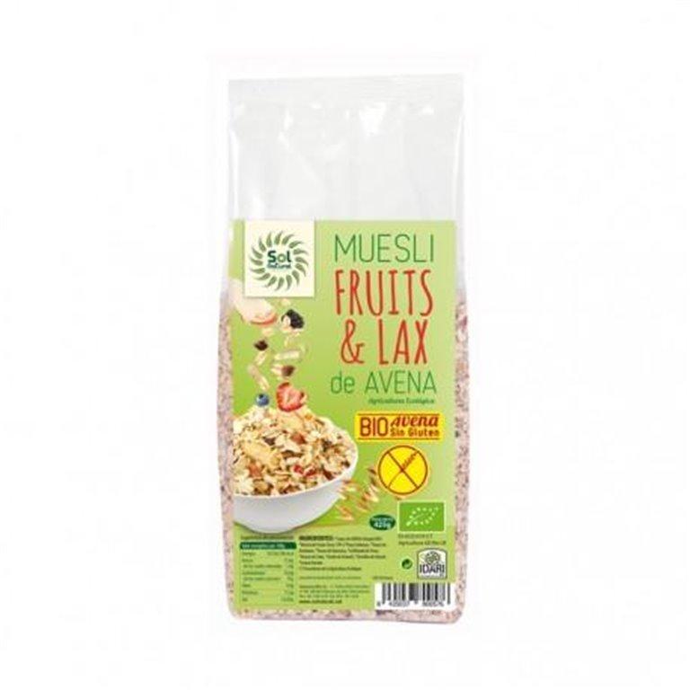 Muesli de Avena Fruits & Lax Sin Gluten Bio 425g