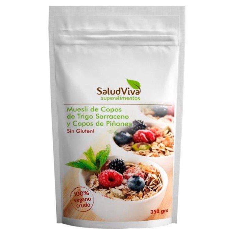 Muesli de Copos de Trigo Sarraceno y Copos de Piñones (Sin Azúcar) Sin Gluten 350g