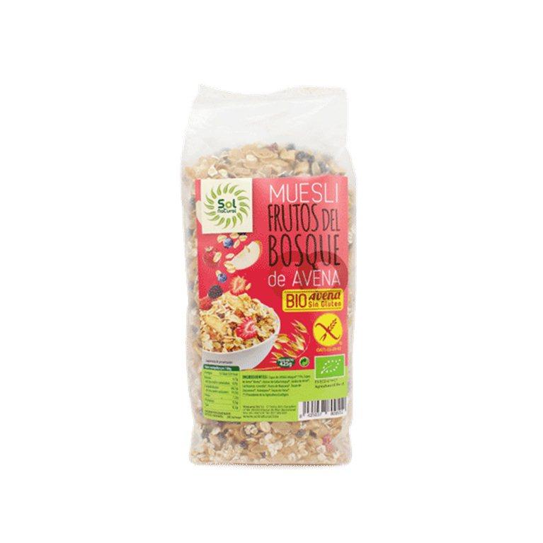 Muesli frutos del bosque de avena, 425 gr
