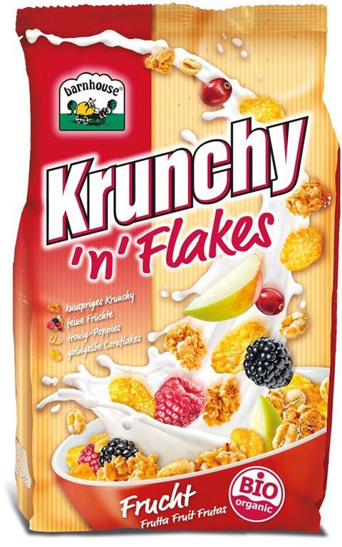 Muesli Krunchy Flakes Frutas Bio 375g