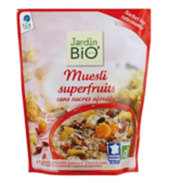 Muesli Superfruits sin azúcar, 380 gr