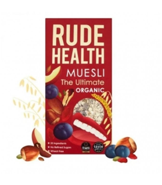 "Muesli ""The Ultimate"" BIO 400gr. Rude Health. 6 pcs"