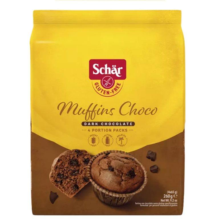 Magdalenas (Muffins) de Cacao Sin Gluten 185g, 1 ud