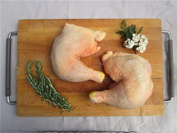 Muslo y contramuslo de pollo de pasto