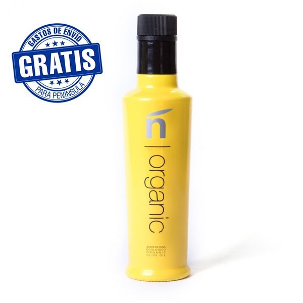 Ñ Organic. Amarilla Picual. 500ml. Caja de 6 unidades.