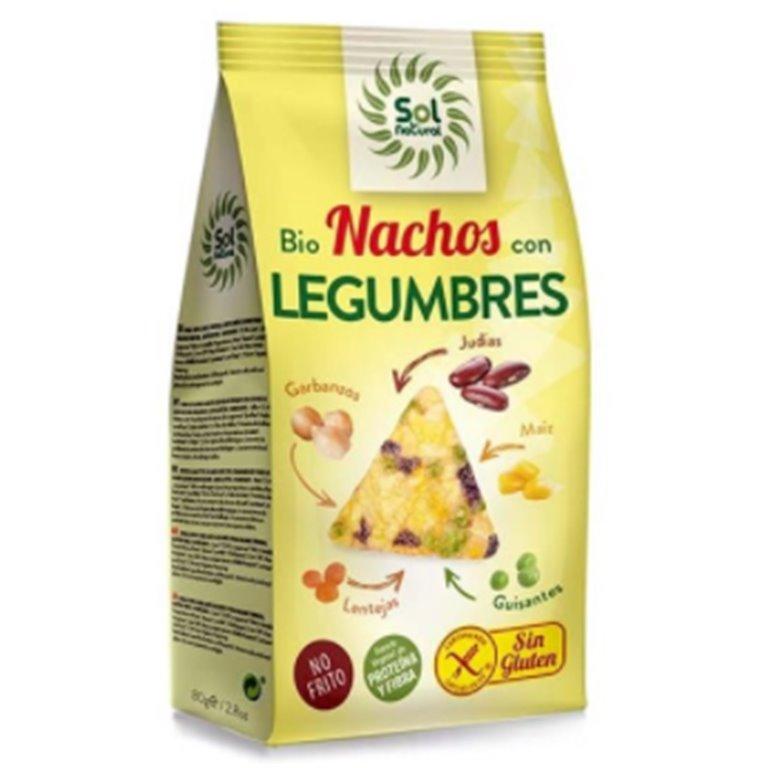 Nachos con Legumbres Sin Gluten Bio 80g