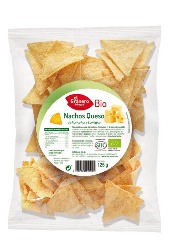 Nachos Queso Bio 125g