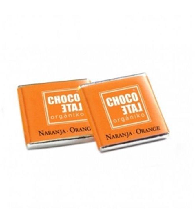 Napolitanas de Chocolate con Leche y Naranja 36% BIO 1,5kg. Chocolate Orgániko. 1un.