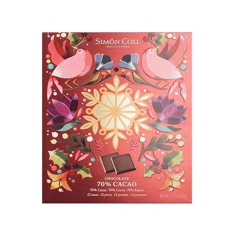 Napolitanas Navidad 70% cacao Simon Coll