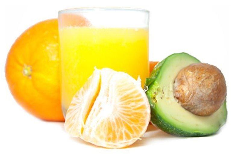 Naranjas para zumo y Aguacates